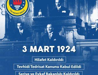 Devrim Yasaları'nın 97. yıldönümü kutlu olsun.