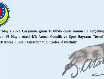 19 Mayıs Atatürk'ü Anma Gençlik ve Spor Bayramı Törenimiz.